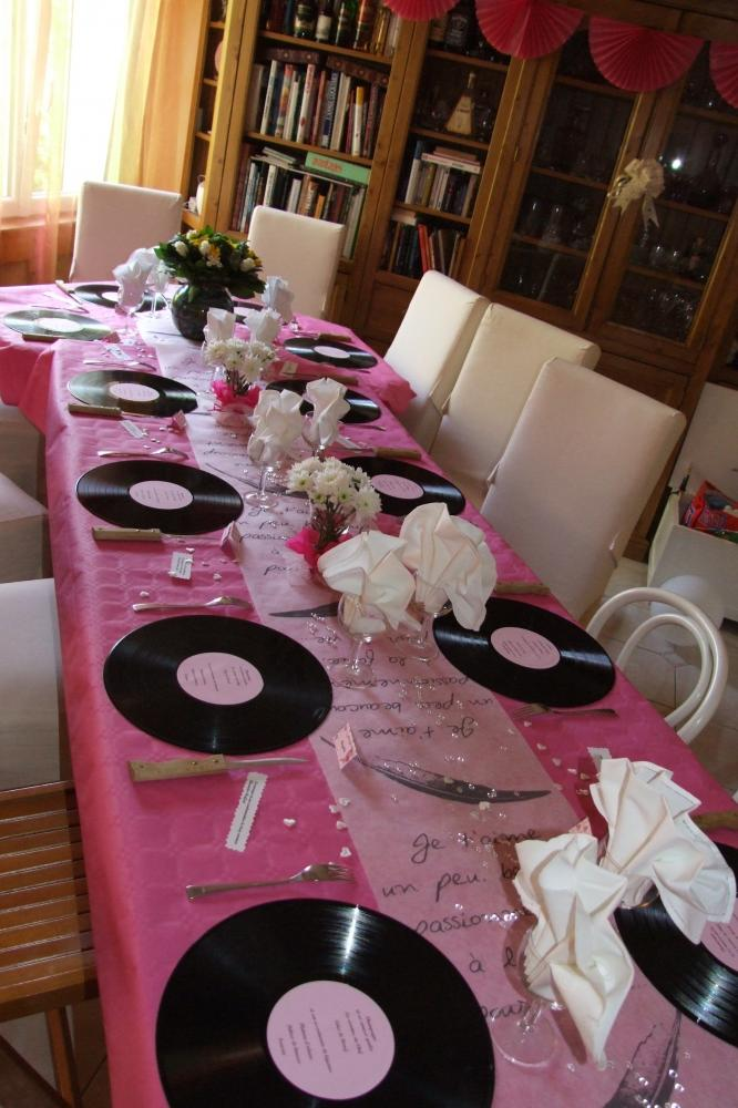 D co de table 60 ans de mariage blog z dio - Decoration de table anniversaire 20 ans ...