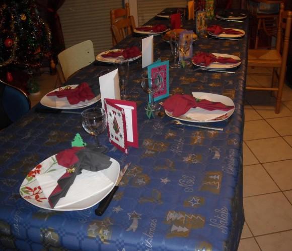 décoration de table noel