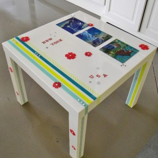 Atelier je customise et je r sine une table basse blog z dio - Decorer une table basse ...