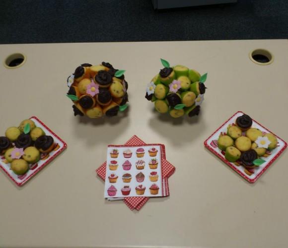 Bouquet de cupcakes à la vanille et aux pépites de chocolat