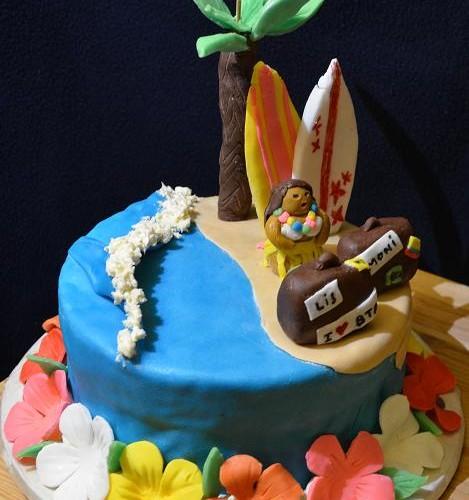 Gâteau d'anniversaire Hawaii