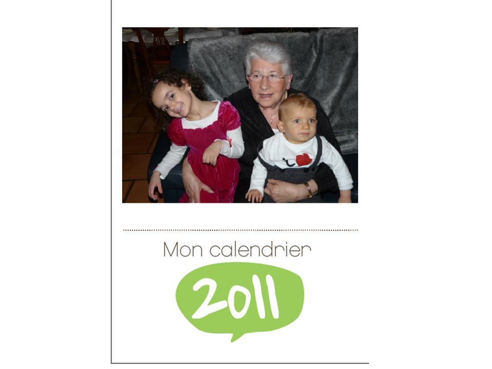Calendrier 2011 gratuit à personnaliser