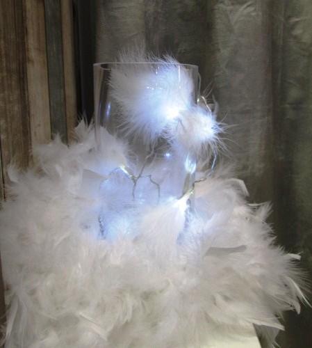 Nouveauté guirlande plumes blanches