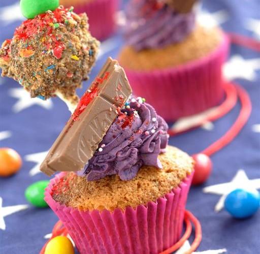 Cup cake Kit Kat et cake pop M&M's