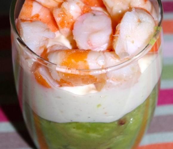 Verrines express :Avocat et crevettes !