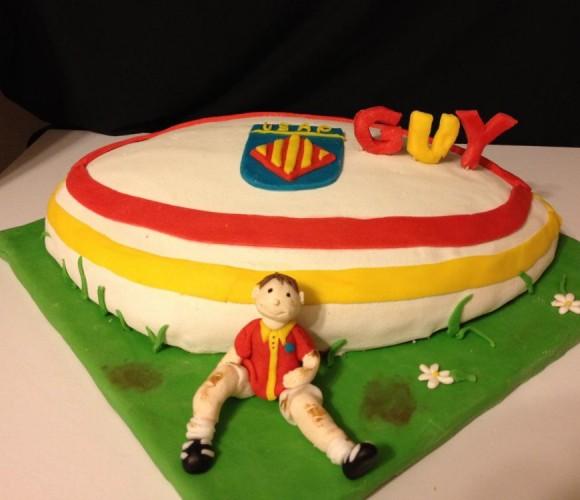 Gâteau d'anniversaire 3D Rugby