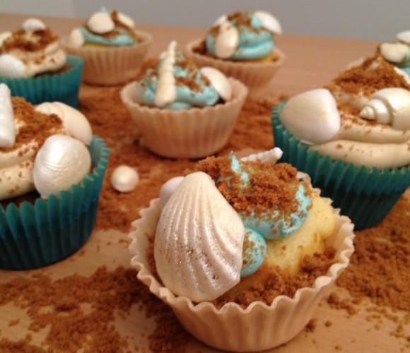 Cupcakes plage