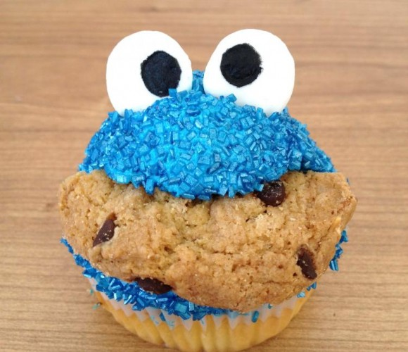 The Cookie Monster cupcake