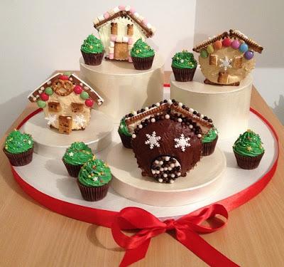 Village de Noël en cupcakes