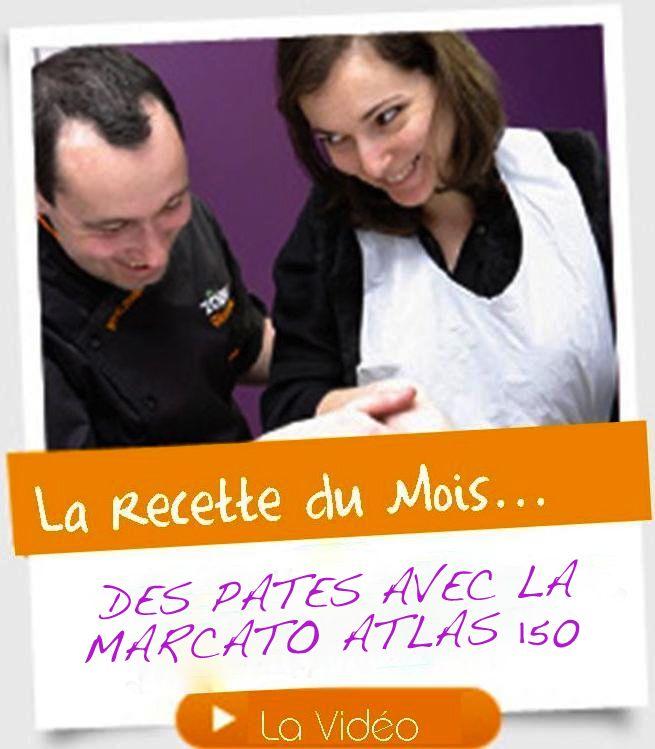 Des pâtes oui!!! mais avec la Marcato Atlas 150