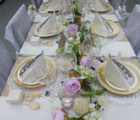 Des idées de table pour des repas de famille, baptêmes, anniversaires