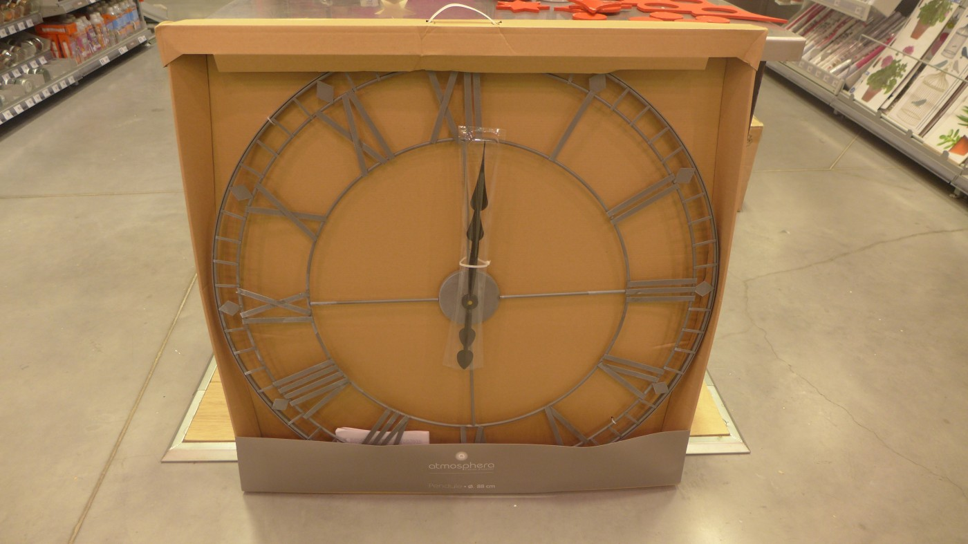 Nouveaut xxl rayon horloge blog z dio for Horloge zodio