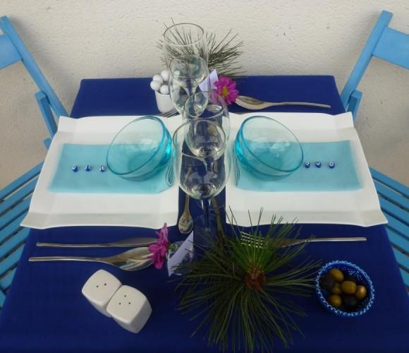 Table «Souvenir de vacances en Grèce»