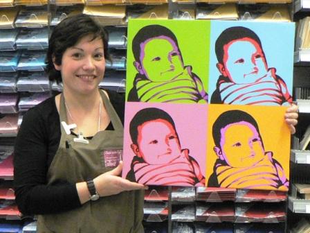 Pour Noël, j'ai choisi d'offrir à ma maman... une photo sur toile!