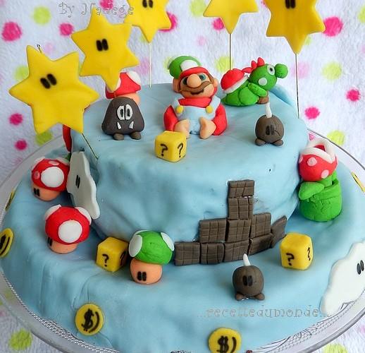 Gateau Mario bross 3D