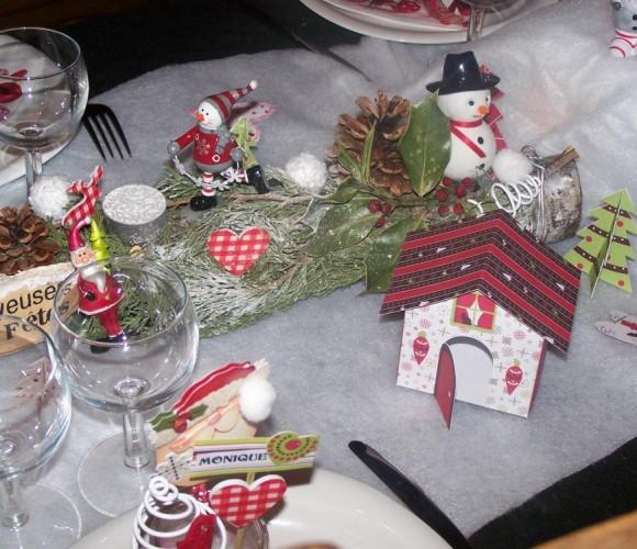 ma table de Noël en scrapbooking