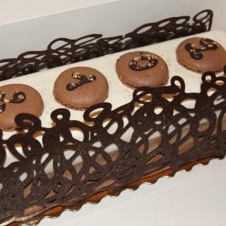 Bûche dentelle 3 chocolats