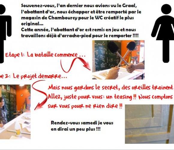 Podium WC créatif…c'est reparti !!!