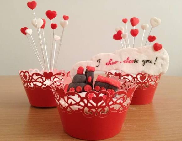 Cupcakes de St Valentin