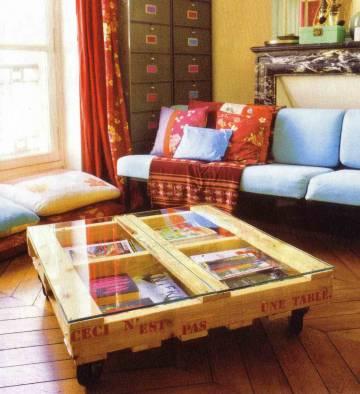 Cr ation de meubles en palettes pour votre d coration - Table basse palette design ...