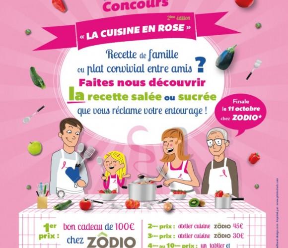 2ème édition du concours « La Cuisine en Rose » avec l'ADCN et ZODIO