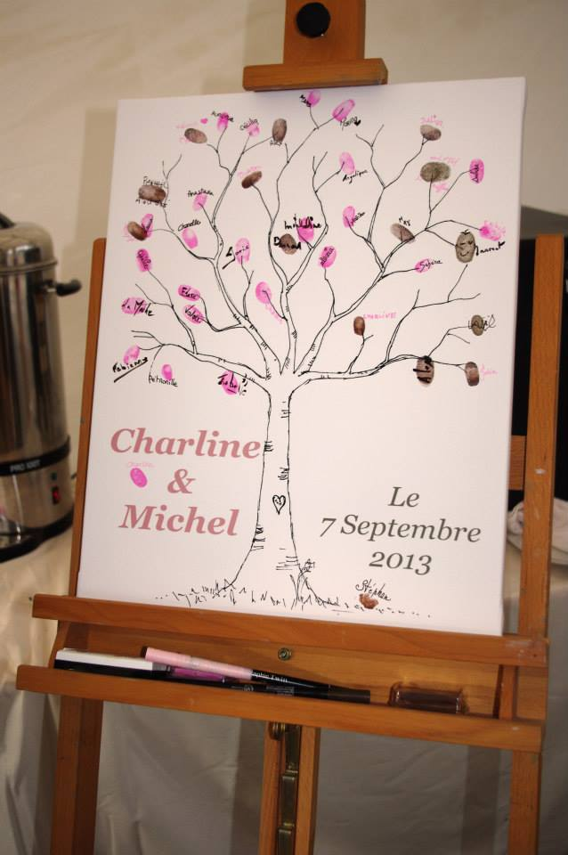 notre livre d 39 or un arbre empreintes blog z dio. Black Bedroom Furniture Sets. Home Design Ideas