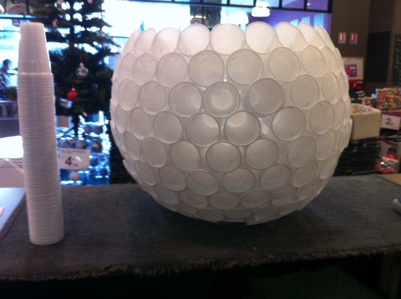 Deco noel verre plastique
