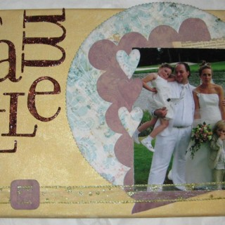 Toile sur chassis, scrapbooking