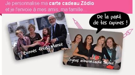 Nouveau sur zodio.fr : la carte cadeau personnalisable !