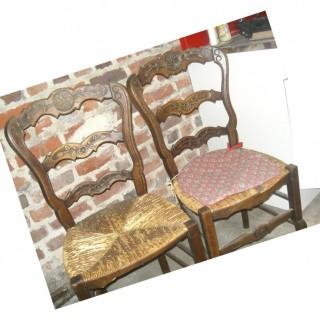 La métamorphose de 3 chaises en paille