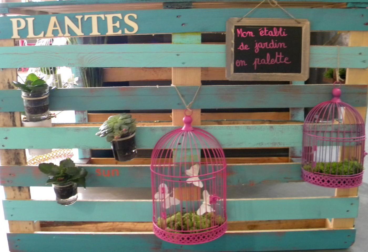 Mon etabli de jardin en palette blog z dio - Etabli de jardin ...