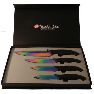 J'ai choisi pour vous le coffret 4 couteaux revetêment titanium