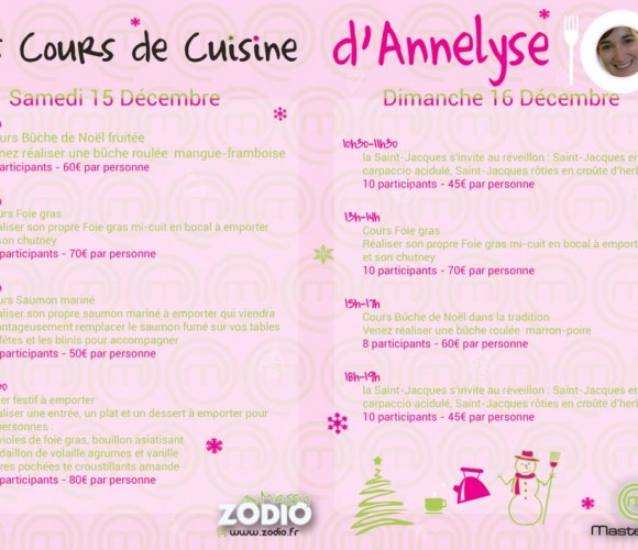 Cours de Cuisine d'Annelyse, participante à Master Chef 2012