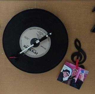 J 39 ai choisi pour mon neveu l 39 horloge disque vinyle blog for Horloge zodio