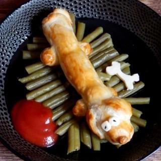 Un hot dog chien chaud !