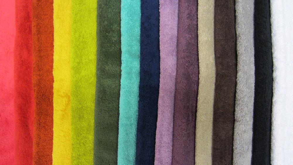 15 coloris de serviettes éponge !