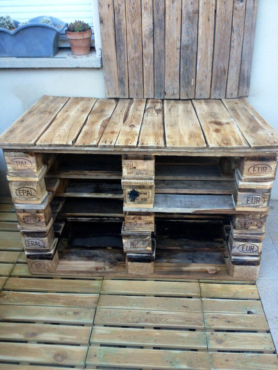 Détournons ensemble des palettes en terrasse et salon de jardin ! (Blog Z u00f4dio) # Meuble En Bois De Palette A Vendre