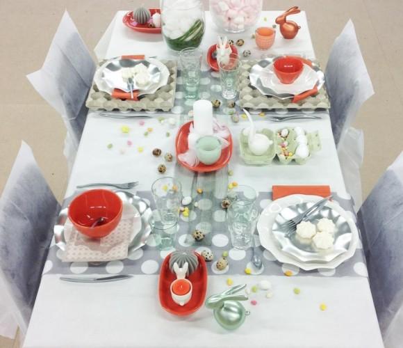 Ma préparation de table pour Pâques