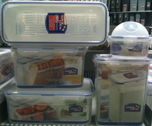 J'ai choisi pour ma grand-mère, les boites alimentaires «Lock & Lock»
