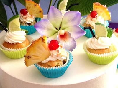 Mojito et pina colada cupcakes
