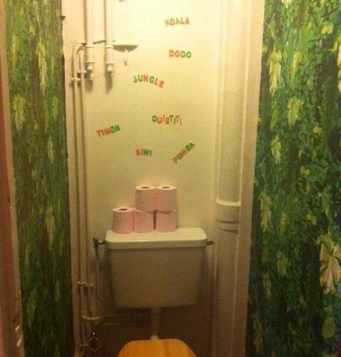 Des toilettes fun!!!! Welcome to the Jungle!!!!
