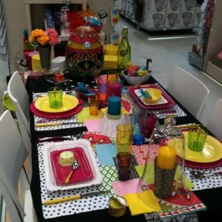 Une table au couleur de l'été
