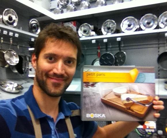 J'ai choisi pour la fête des pères la planche à fromage Boska «Petit Paris»