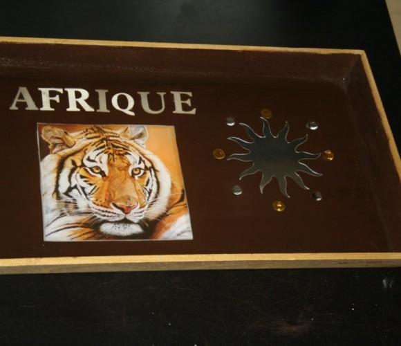 Plateau déco Afrique en résine