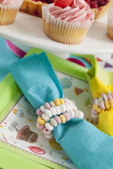 Rond de serviette en bonbon