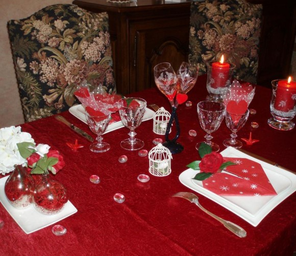 Ma table de la St Valentin 2012