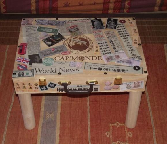 création table basse avec une valise